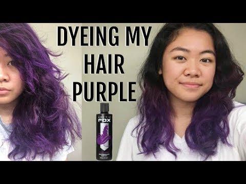 4258e720e3b1dd Dyeing Hair Purple | Arctic Fox Purple Rain & Fading Results - YouTube