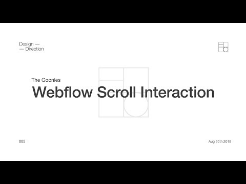 Webflow Scroll Interaction - Create The Award Winning Goonies Hero Section