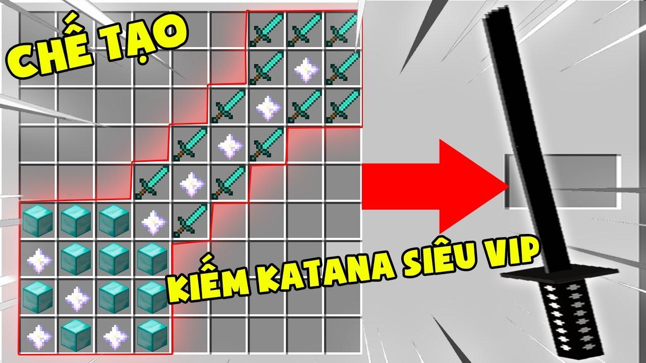 T Gaming Thử Thách Chế Tạo Thanh Kiếm Katana Vip Nhất Minecraft ?? Thanh Kiếm Siêu Bá Đạo Siêu Vip