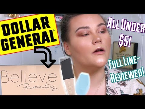 DOLLAR GENERAL MAKEUP- BELIEVE BEAUTY|FULL IN DEPTH REVIEW!