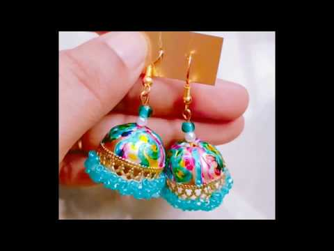 DIY earrings -new ways to decorate  colourful jhumka