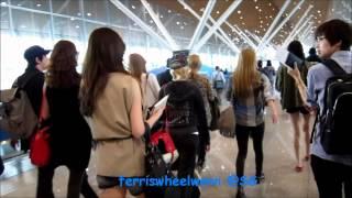 24/03/12 - SNSD arrival @ KLIA - Tiffany taking pics & Seohyun, Yoona talking~
