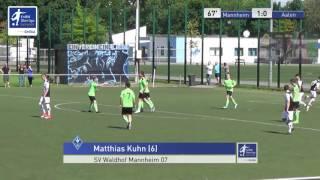 A-Junioren - SV Waldhof Mannheim vs. VfR Aalen 1-0 - Matthias Kuhn