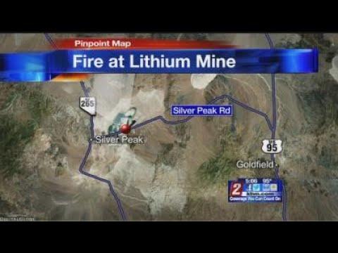 8/2 5pm Fire at Lithium Mine in Esmeralda County