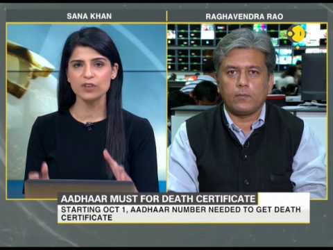 Indian government makes Aadhaar number mandatory for registration of death