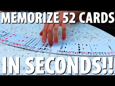 How to Memorize a Deck of Cards in SECONDS!!