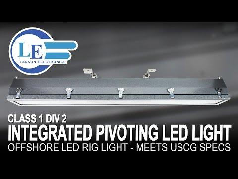 Class 1 Div 2 LED Pivoting Light - 4 Foot 2 Lamp - Offshore LED Rig Light - Meets USCG Specs