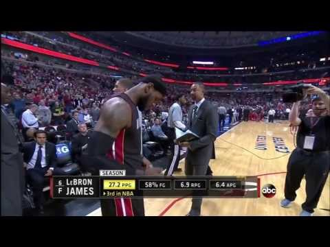 March 09, 2014 - ABC - Game 60 Miami Heat @ Chicago Bulls - Loss (43-17)(Heat Highlights)
