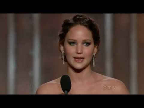Jennifer Lawrence wins Best Actress (Comedy or Musical) - Golden Globes 2013