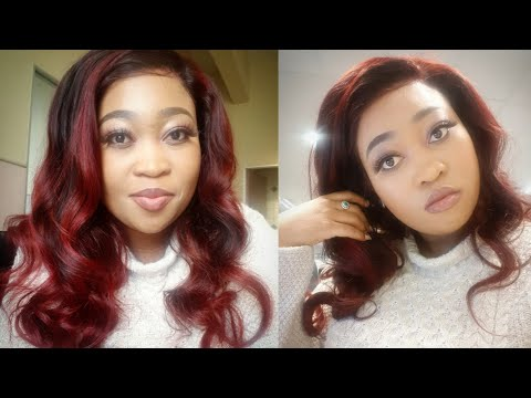 DIY| How to dye your weave Burgundy with a touch of black