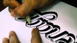 """""""Ménage"""" Hand-lettering Script"""
