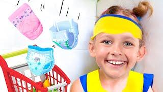 Маше срочно нужно купить детские памперсы
