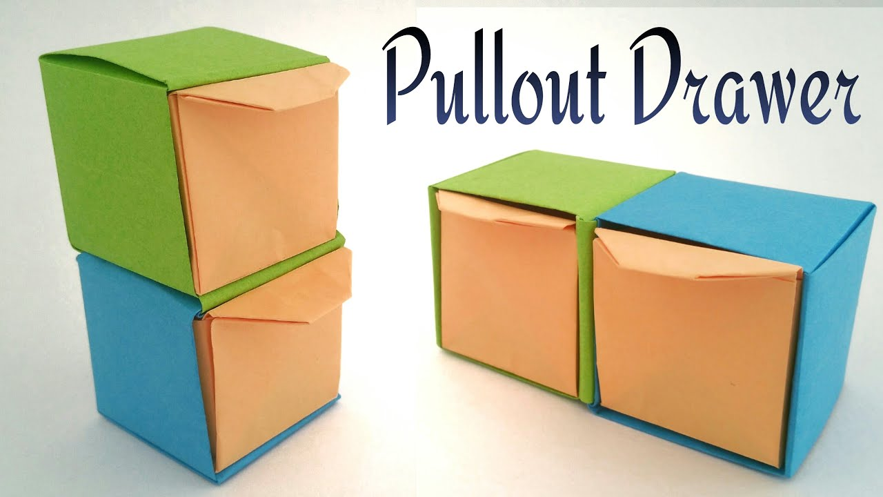 How to make a paper pullout drawer modular useful for Useful things to make out of paper