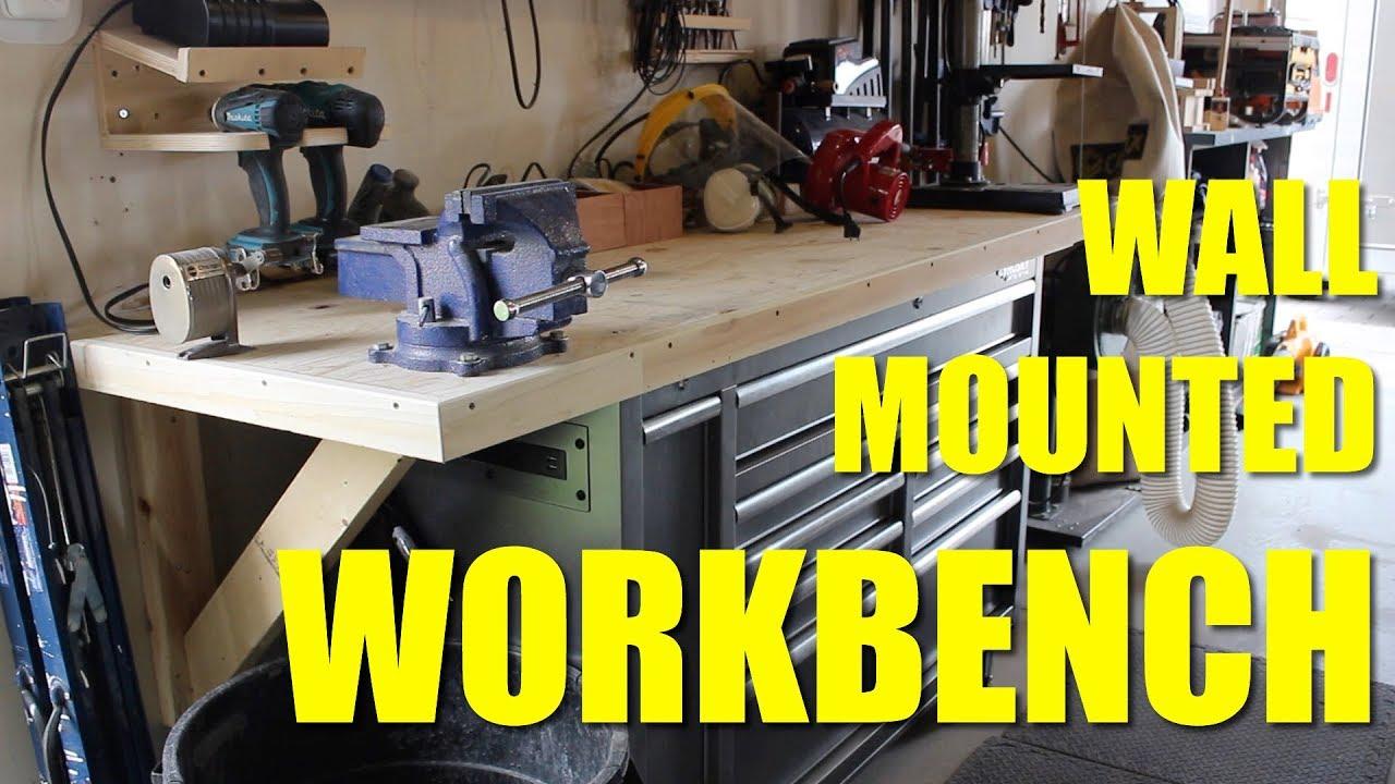 Diy Wall Mounted Workbench Youtube