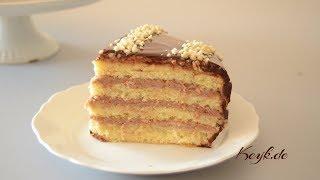 Kuchen mit Nutella Mascarpone Füllung und Schokoglasur