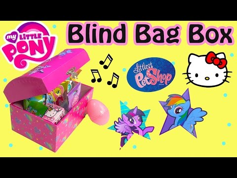 MLP Music Box Mystery Surprise Blind Bags Egg My Little Pony Littlest Pet Shop Hello Kitty Unboxing