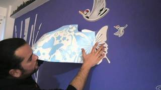 How to place a vinyl sticker on wall