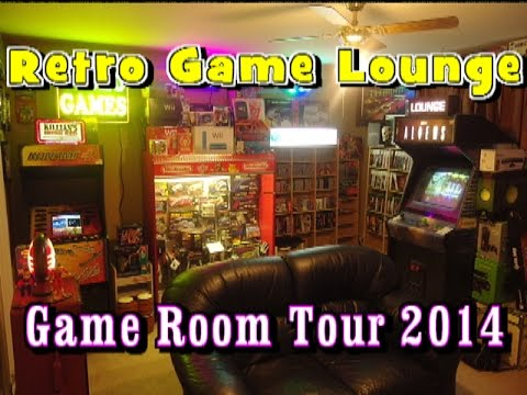 EPIC GAME ROOM TOUR 2014 Retro Game Lounge Home Arcade and