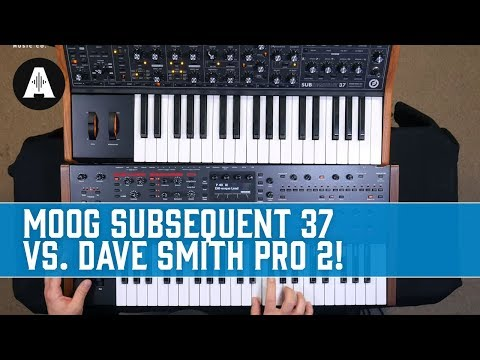 Moog Subsequent 37 Vs Dave Smith Pro 2 - Monophonic Vs Polyphonic!