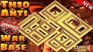 Clash Of Clans Town Hall 10   War Base   Anti Everything   Th10 War Base   Anti 3 Star   With Replay