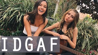 IDGAF by Dua Lipa | acoustic cover by Jada Facer & Tori Keeth