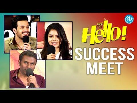 Hello Movie Success Meet    Akhil Akkineni...