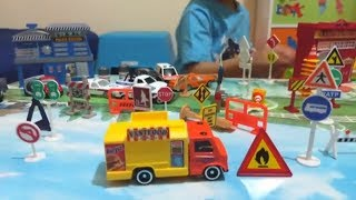 City Playset with Adam's Toy Cars Collection | Police cars | Ambulance | Fire Truck | Taxi car