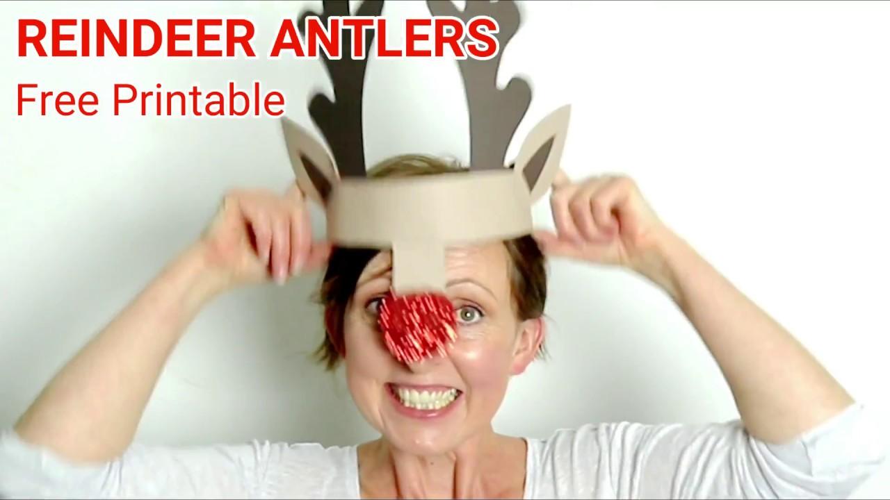 photo regarding Printable Reindeer Antler named Printable Reindeer Antlers