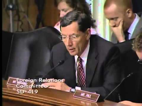 Sen. John Barrasso at Foreign Relations Hearing - 7/17/13