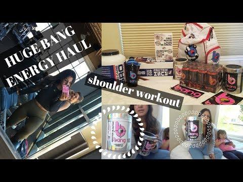 HUGE BANG ENERGY HAUL//Toned Shoulder Workout