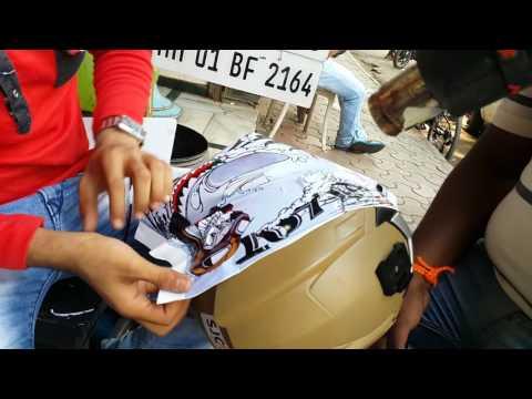 PILOT  HELMET STICKERING || love my helmet