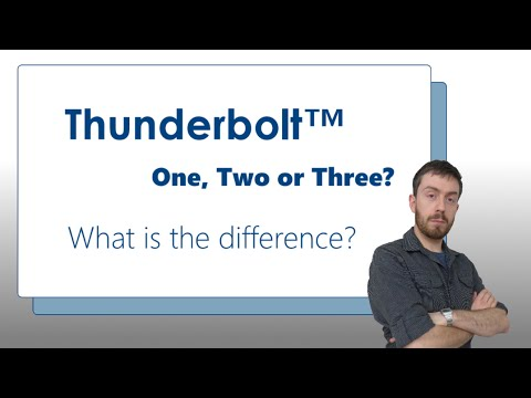 What is the Difference between Thunderbolt 1, 2 and 3 - and how it related to USB 3.1 Gen 2 Type C