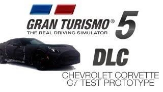 new chevrolet corvette c7 test prototype gt5 dlc