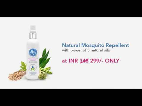 100% Natural Mosquito Repellent For Babies | Power Of 5 Natural Oils