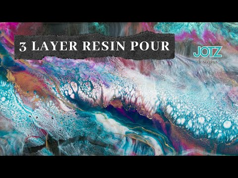 3 layers and 3 resins Epoxy Resin pour