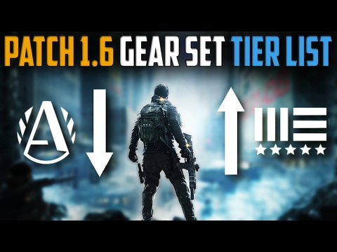 The Division | Patch 1.6 Gear Set Tier List | What To Farm In 1.6