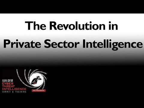 The Revolution in Private Sector Intelligence | CTI Summit 2