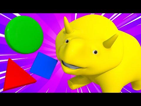 Обучающий мультфильм -  Учим цифры и фигуры с пирогами - Динозаврик Дино 👶 Обучающий мультфильм
