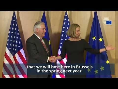 EU Foreign Affairs Ministers meet Rex Tillerson - Highlights