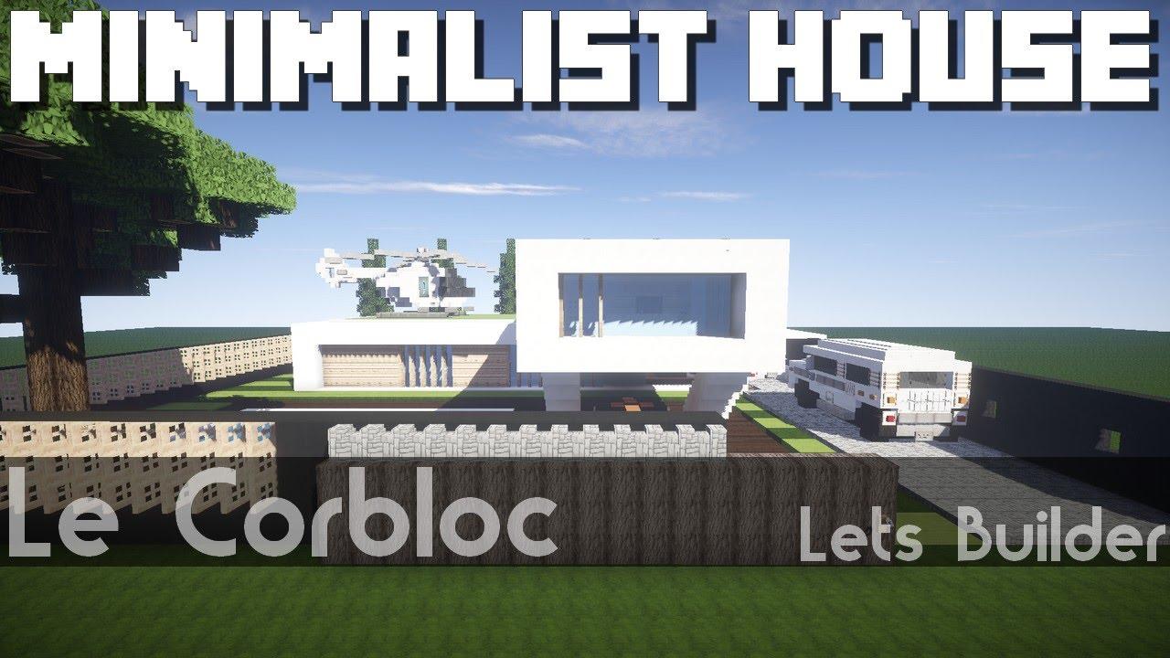 Minecraft minimalist house youtube Petite maison minimaliste