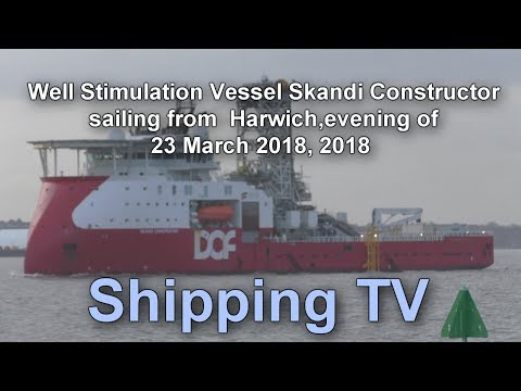 Well Stimulation Vessel Skandi Constructor sailing, 23 March