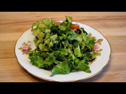 Готовлю два раза в день. Бомбический салат из листьев салата.