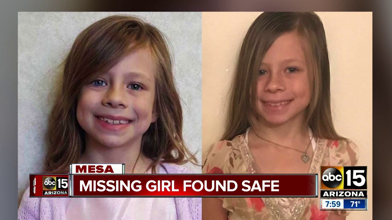 Missing 8-year-old girl from Mesa found safe - YouTube