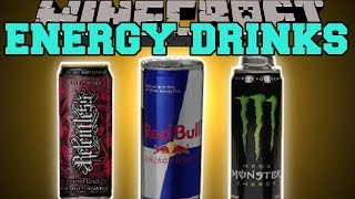 Minecraft: ENERGY DRINKS MOD (FEEL THE CRAZY ENERGY!!) Mod Showcase