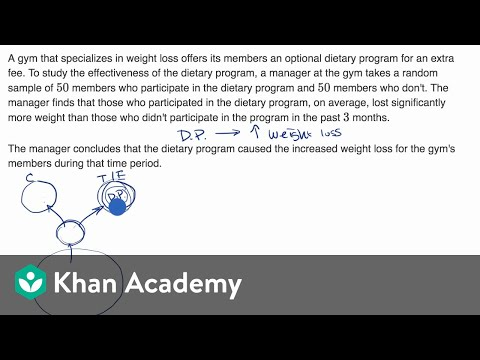 Can causality be established from this study? | Study design | AP Statistics | Khan Academy
