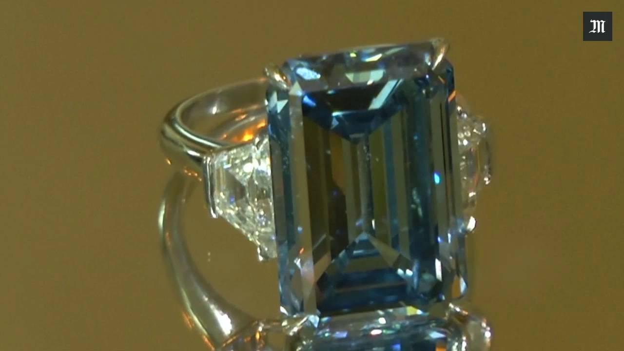 Le Diamant Bleu Oppenheimer Est La Pierre Taillee La Plus Chere Du
