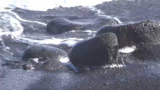 New lava beach created in Puna, Hawaii