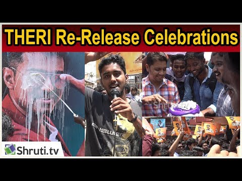 Thalapathy Crazy | Theri Re-Release Celebration | Vettri The