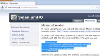 How to create a simple Selenium WebDriver Testing using Eclipse IDE and Maven