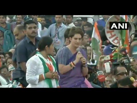 Priyanka Gandhi guns for PM Modi during mega roadshow in UP's Ghaziabad